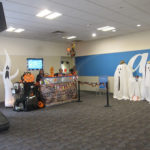 Chicago Halloween with travel nuts and one airline gets festive