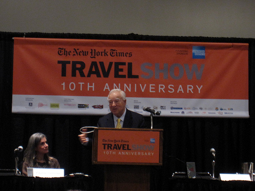 Arthur Frommer at the NYT Travel Show 2013