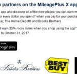 MileagePlus X App New Merchants and 500-Mile First Purchase Bonus for United Cardmembers